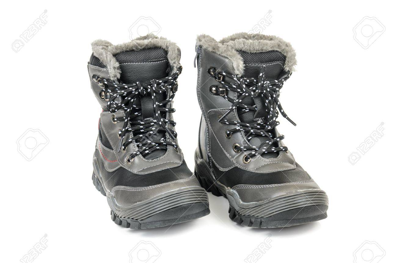 41e87210c06a Children s winter boots. For microstock photo on white background Stock  Photo - 25122644