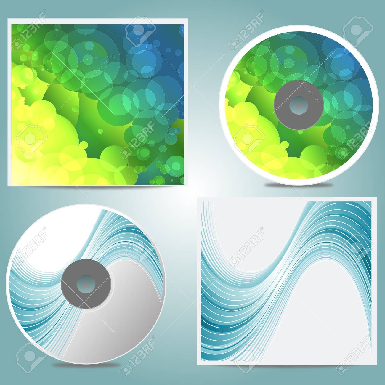 Compact disc different designs vector cover Stock Vector - 18386041