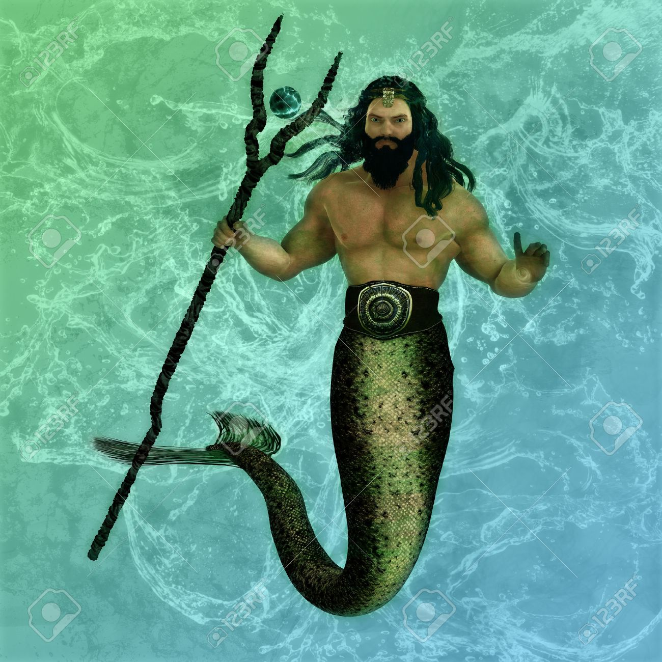 Poseidon Or Neptune Is The Greek God Of The Sea, Water ...