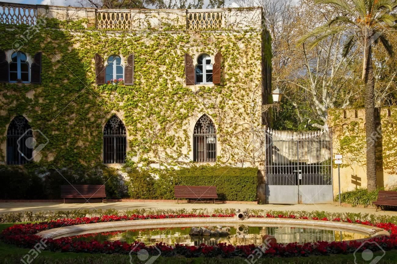 Casa Museo Gaudi.Casa Museu Gaudi In Park Guell In Barcelona Spain Stock Photo