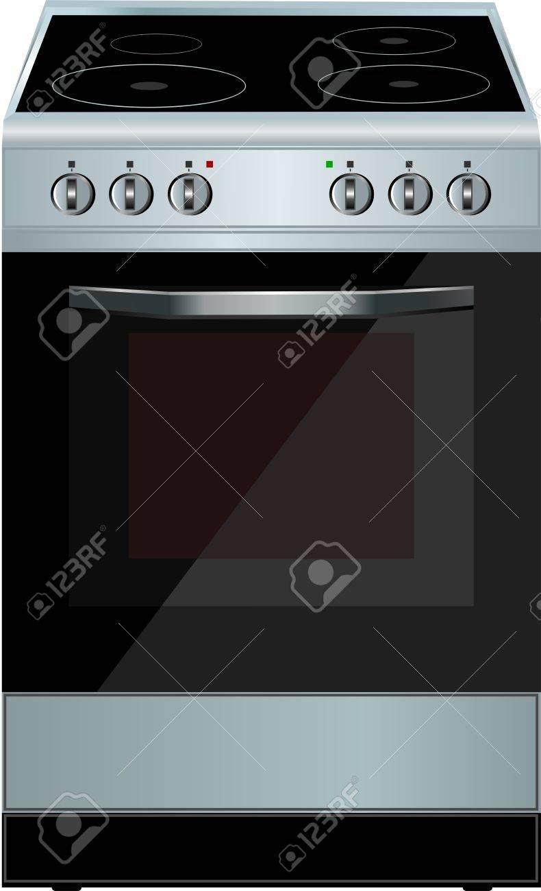Horno Cocina Electrica Ilustraciones Vectoriales Clip Art