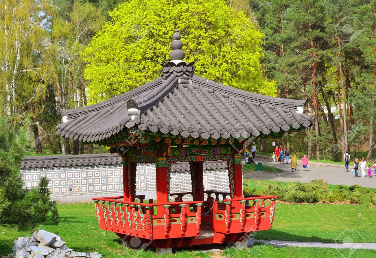 in kyiv botanical garden named grishko opened exhibition korean