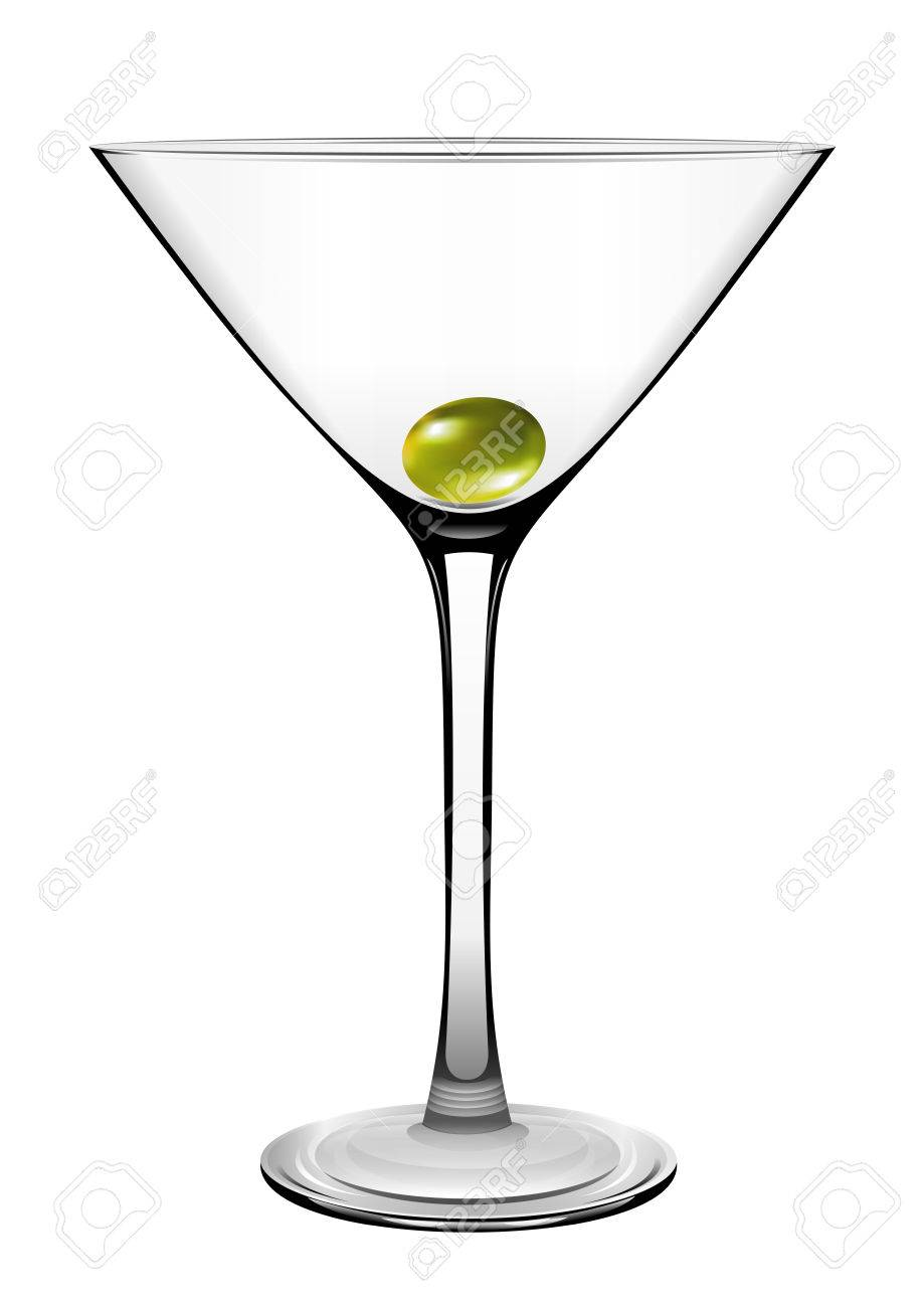 Martini Glass With Olive Vector Royalty Free Cliparts Vectors And