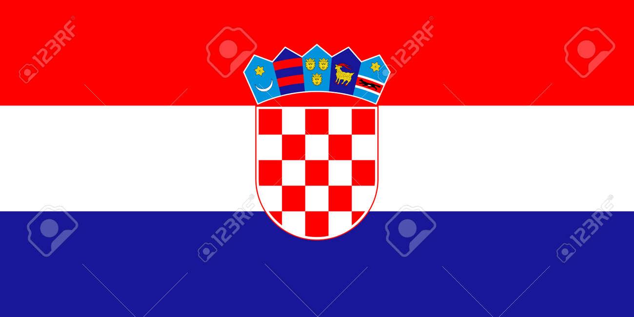 flag of Croatia. Vector illustration - 152706734