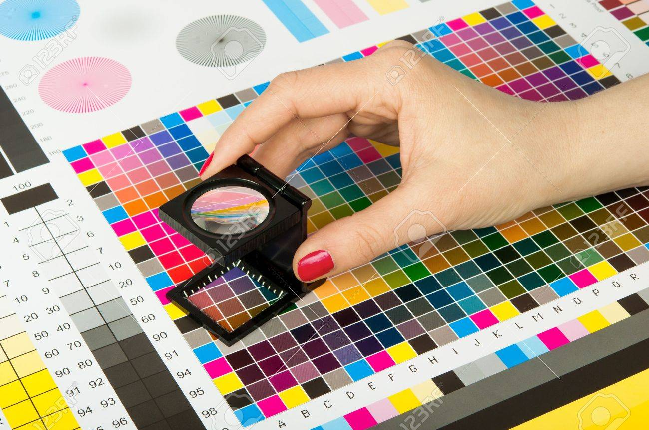 Color Management And Quality Control In Print Production Stock Photo