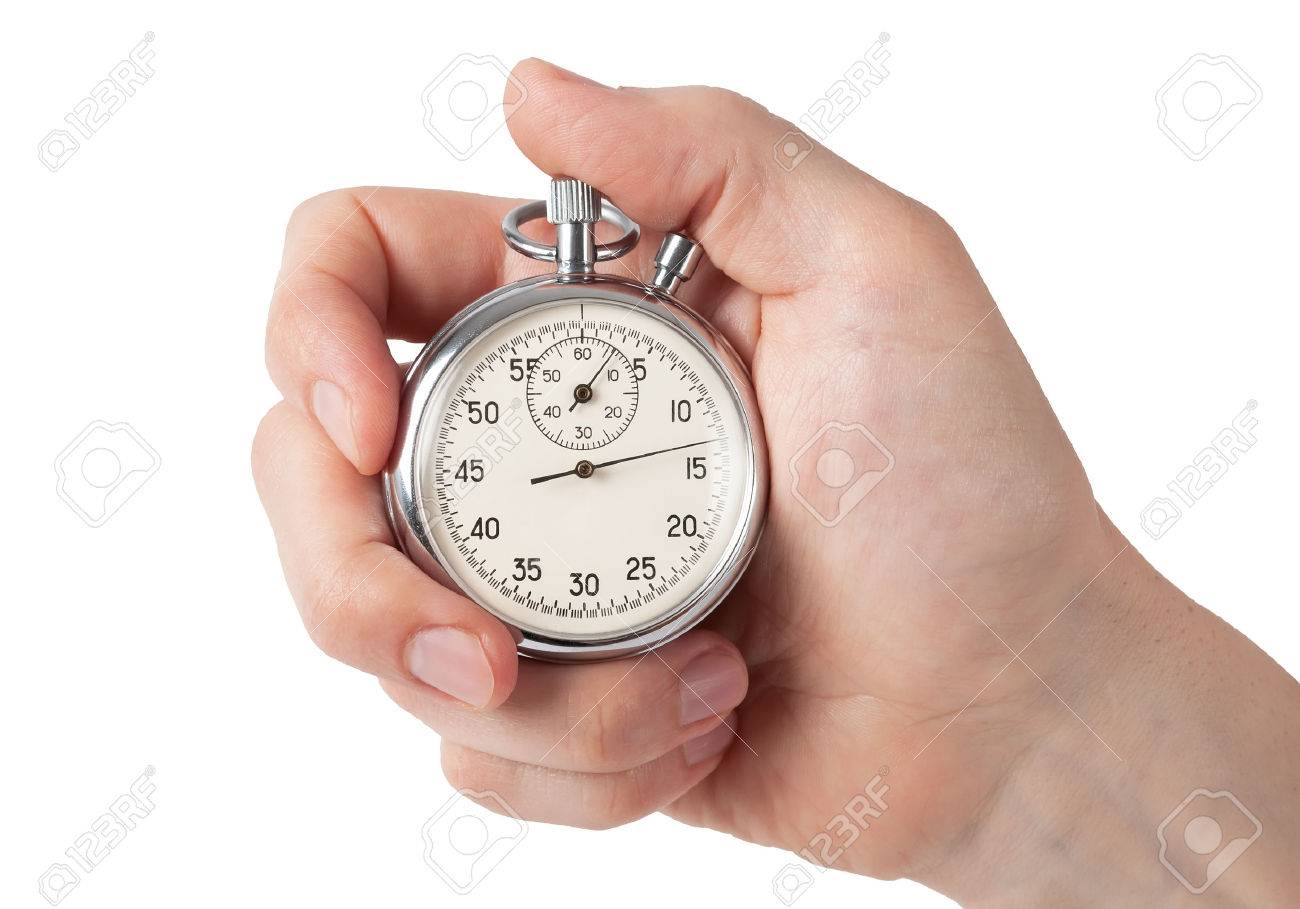 close up of hand holding stopwatch stock photo picture and royalty
