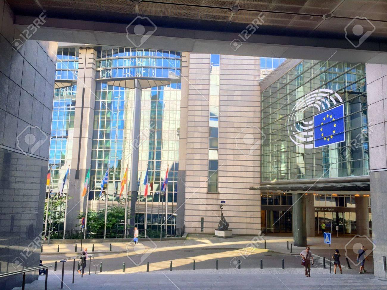 Les immeubles de bureaux au parlement européen dans le quartier