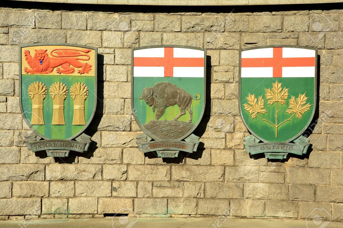 coat of arms for canadian provinces manitoba ontario and