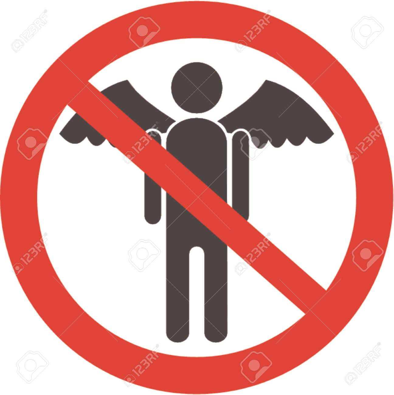 To not fly! A vector illustration. It is isolated on a white background Stock Vector - 714070