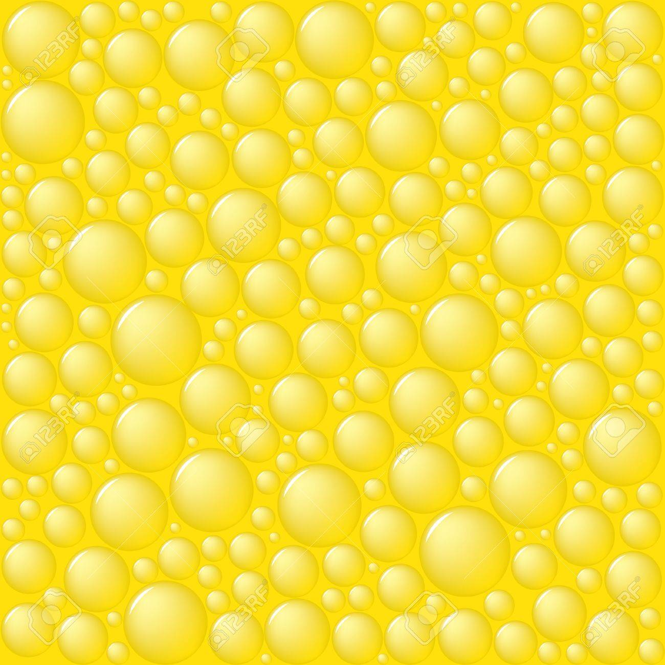 Bubbles on yellow background. Vector illustration. Stock Vector - 3088032