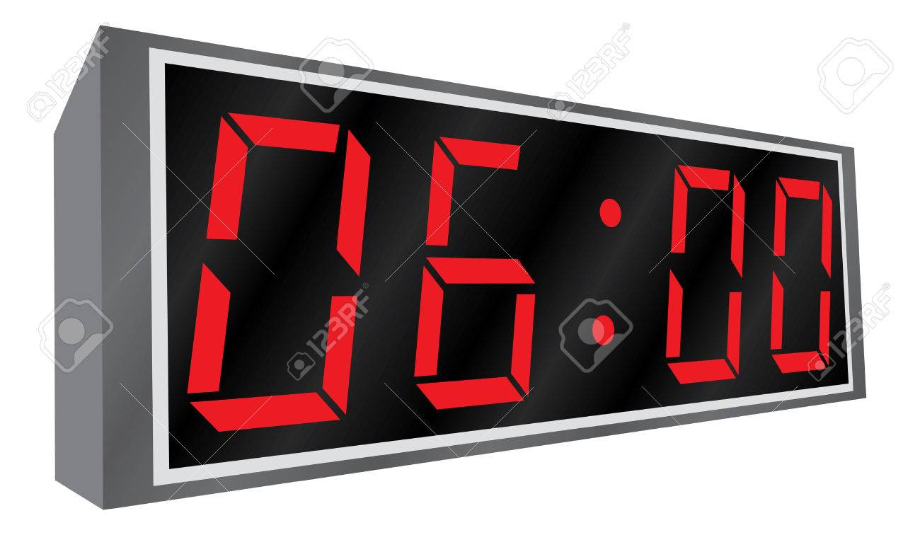 Electronic alarm clock. Vector illustration. Perspective. Isolated on white background. Stock Vector - 3099734