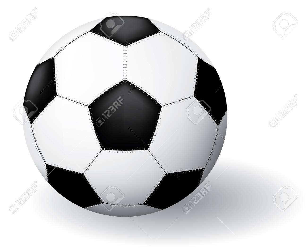 Soccer ball. Vector illustration. Isolated on white background. Stock Vector - 3148365