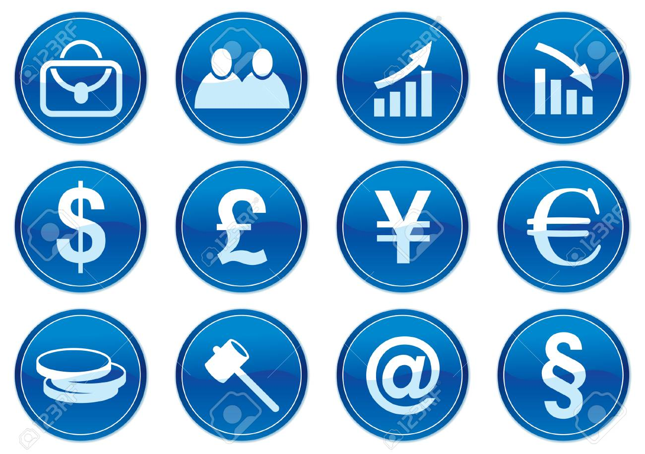 Gadget icons set. White - dark blue palette. Vector illustration. Stock Vector - 3784751