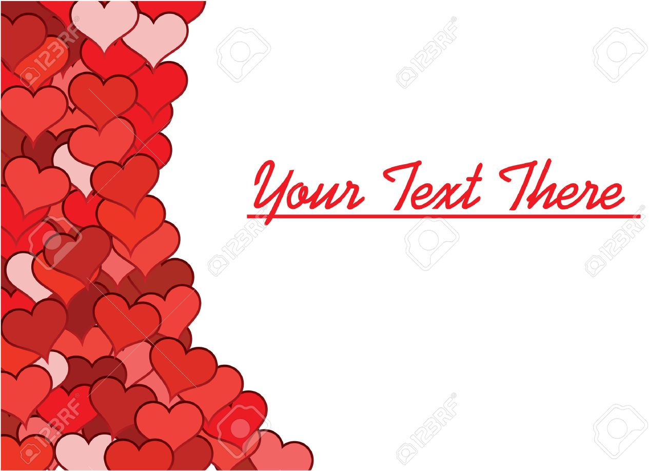 Valentine's Background For Sample Text. Greeting Card. Vector ...
