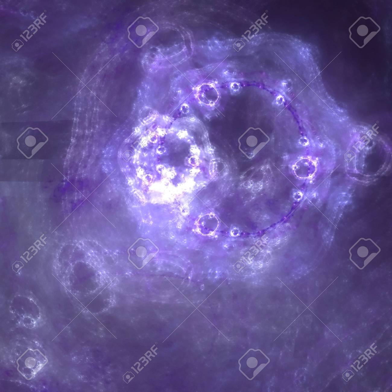 Abstract background. White - purple palette. Raster fractal graphics. Stock Photo - 4604601