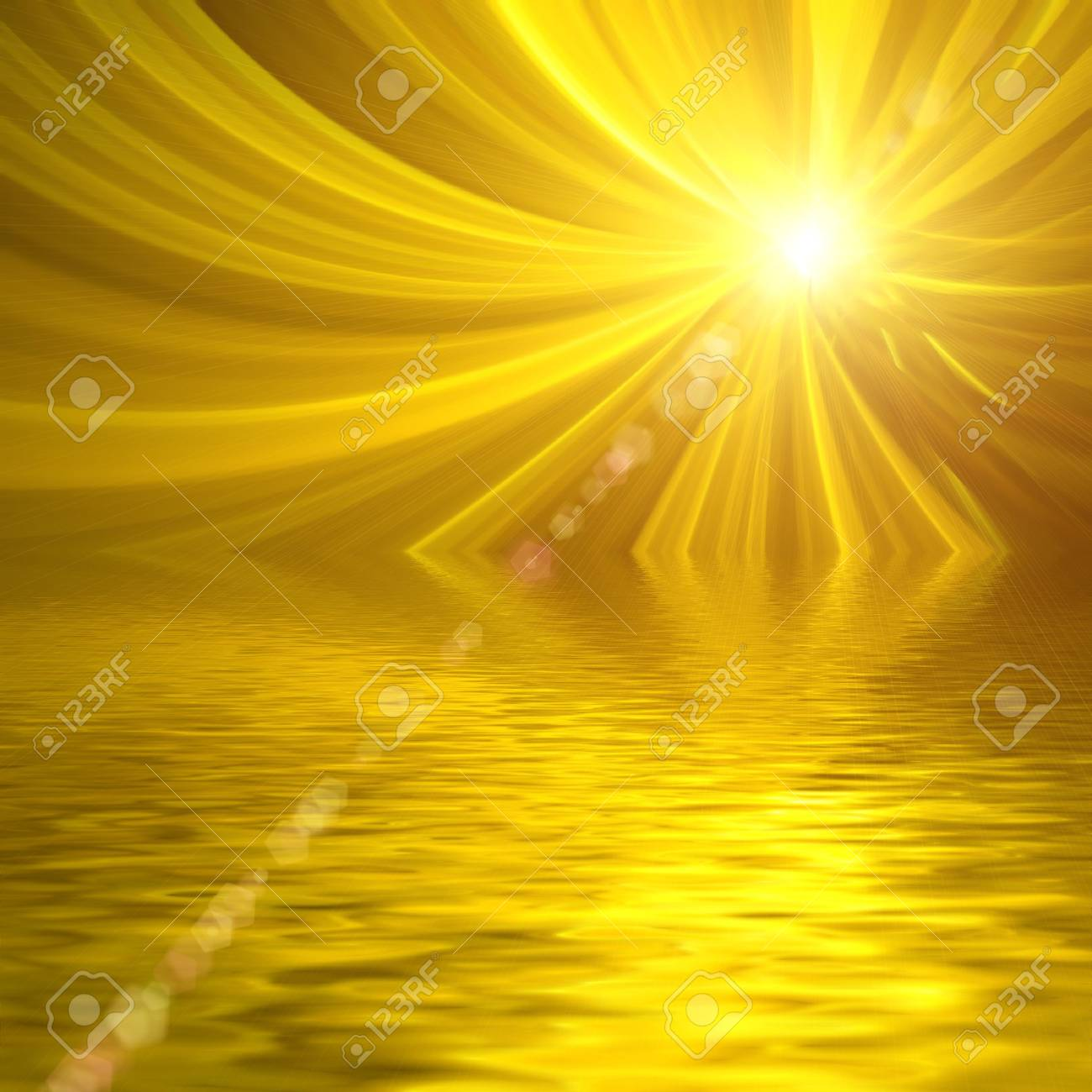 Abstract background. Yellow palette. Raster fractal graphics. Stock Photo - 4920495