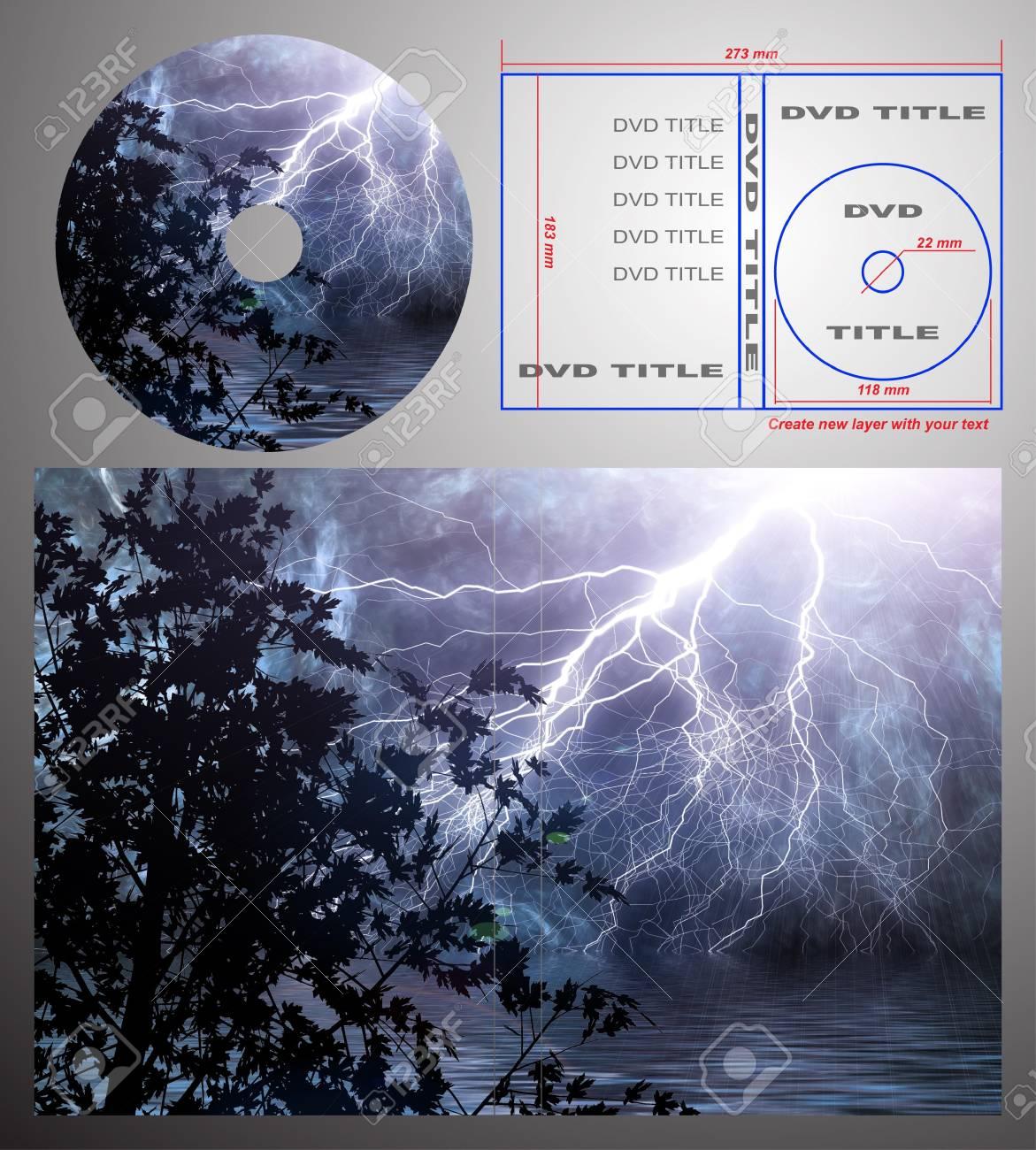 Plantilla De Diseño Abstracto Para Etiqueta De Dvd Y La Tapa De La ...