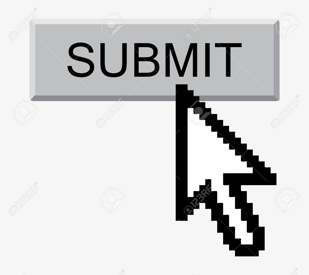Abstract Submit button and arrow-cursor. illustration. Stock Vector - 8248871