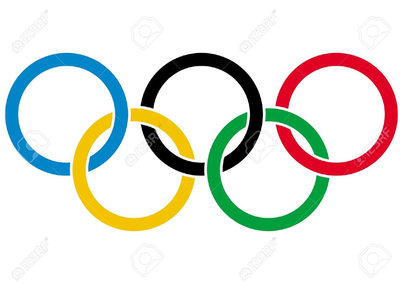 olympics rings symbol of olympic games isolated on white rh 123rf com olympic rings vector ai olympic ring vector graphic