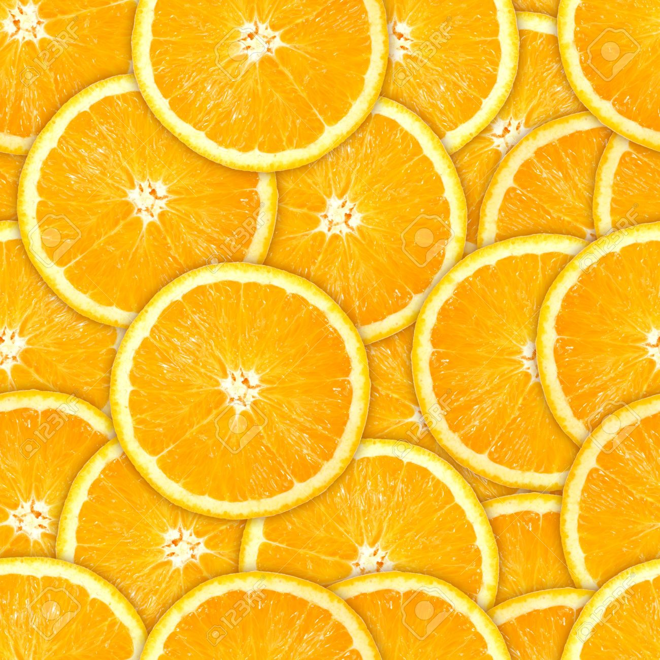 Abstract background of heap fresh orange slices. Seamless pattern for your design Stock Photo - 13693067