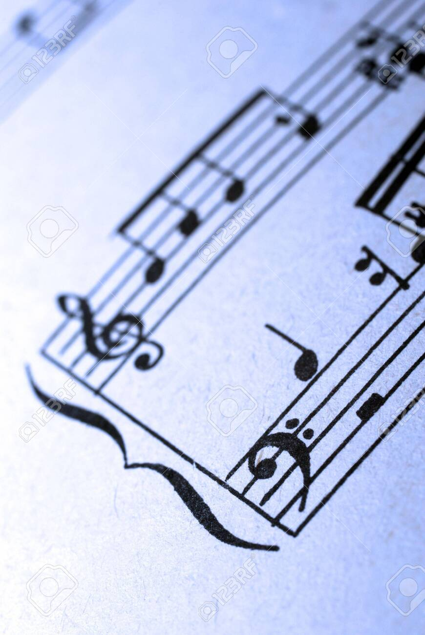 Closeup of old musical sheet's fragment. Stock Photo - 3773292
