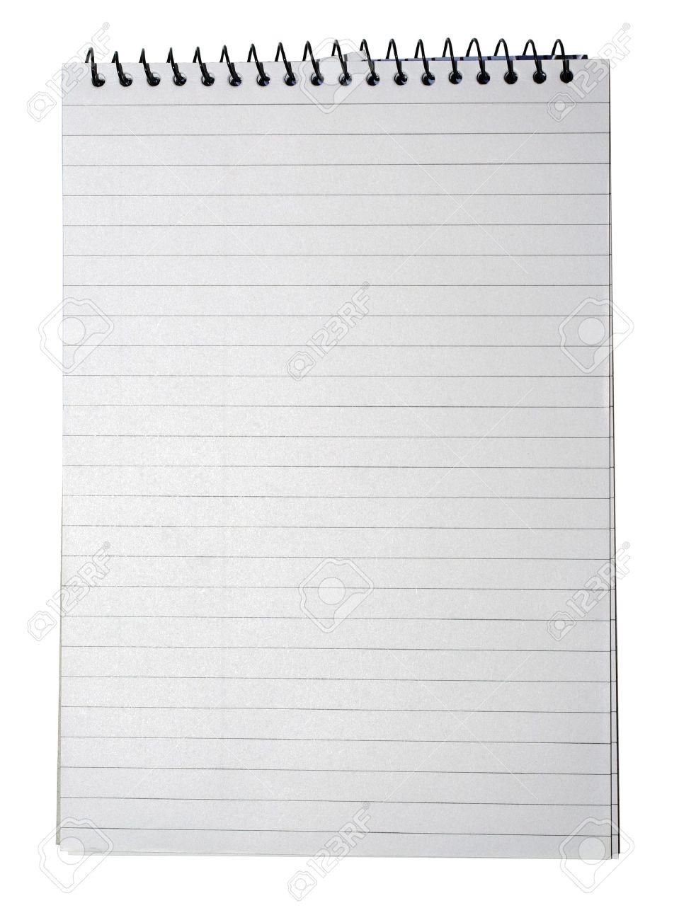 Notebook Mit Gestreiften Papier, Bindemittel Und Leere Seite Für Ihr ...