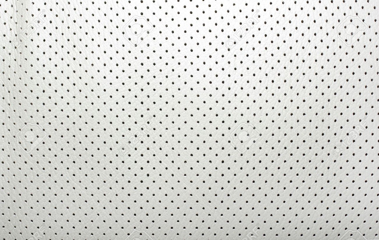 High quality perforated beige leather. Interior of modern japanese car. Background or backdrop. Stock Photo - 4306352
