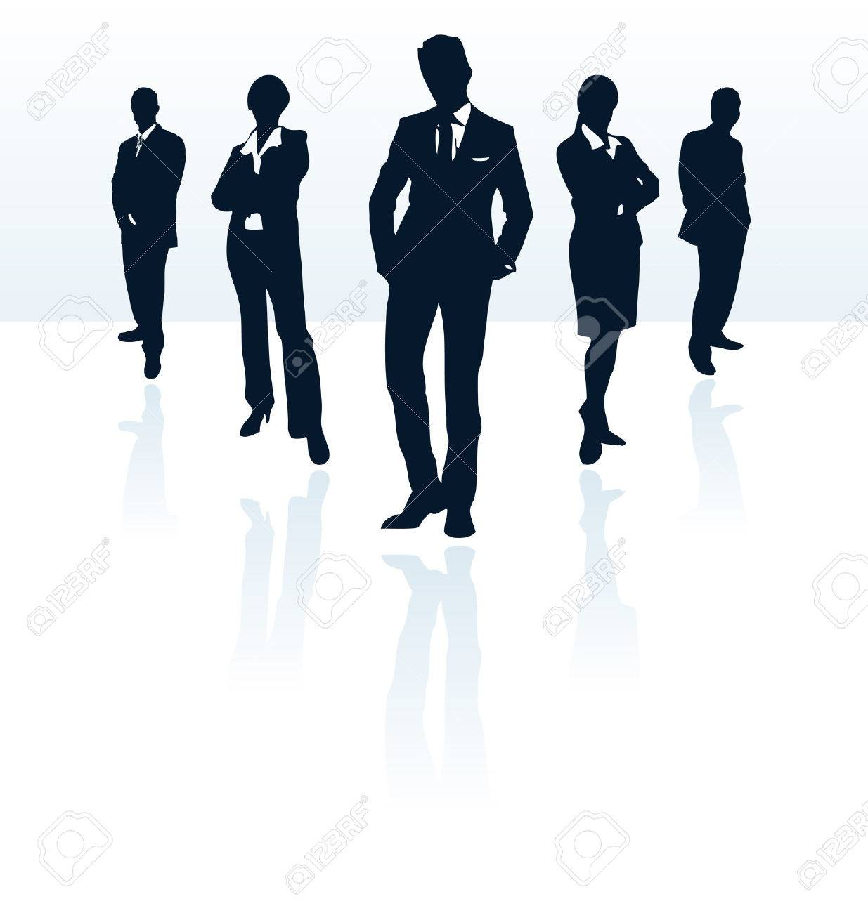 Silhouettes of vector business man and woman. More in my portfolio. Stock Vector - 4997466