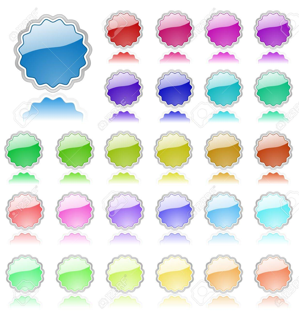 Collection of colored vector elements. Perfect for text or icons. Stock Vector - 5081356