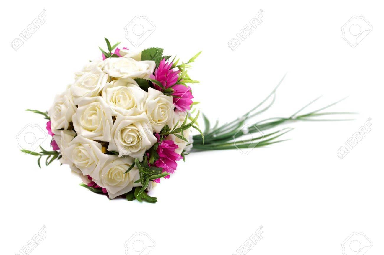 Wedding bouquet isolated on white background, studio shot. Stock Photo - 11826220
