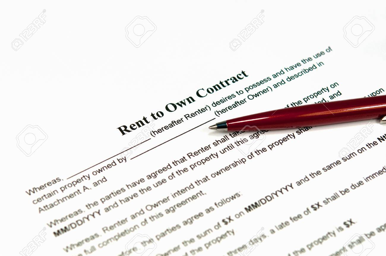 Closeup Image Of A Rent To Own Contract Ready To Be Filled – Rent to Own Agreement