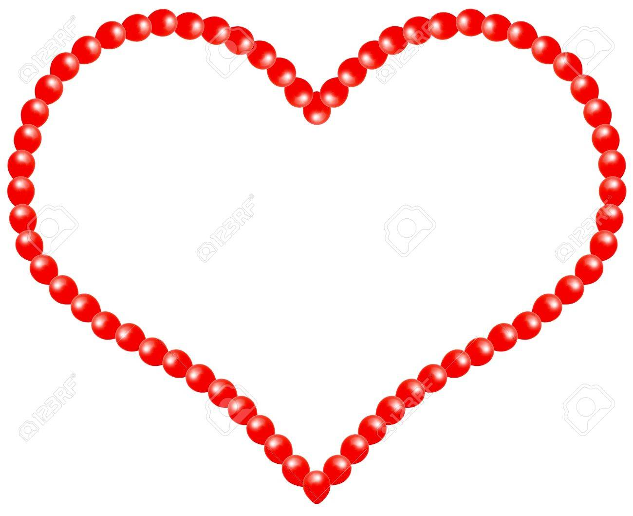 Valentine\'s Day Heart Frame Design With Room For Text.Isolated ...