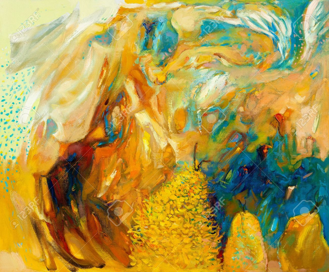 Original Abstract Oil Painting On Canvas.Modern Impressionism ...