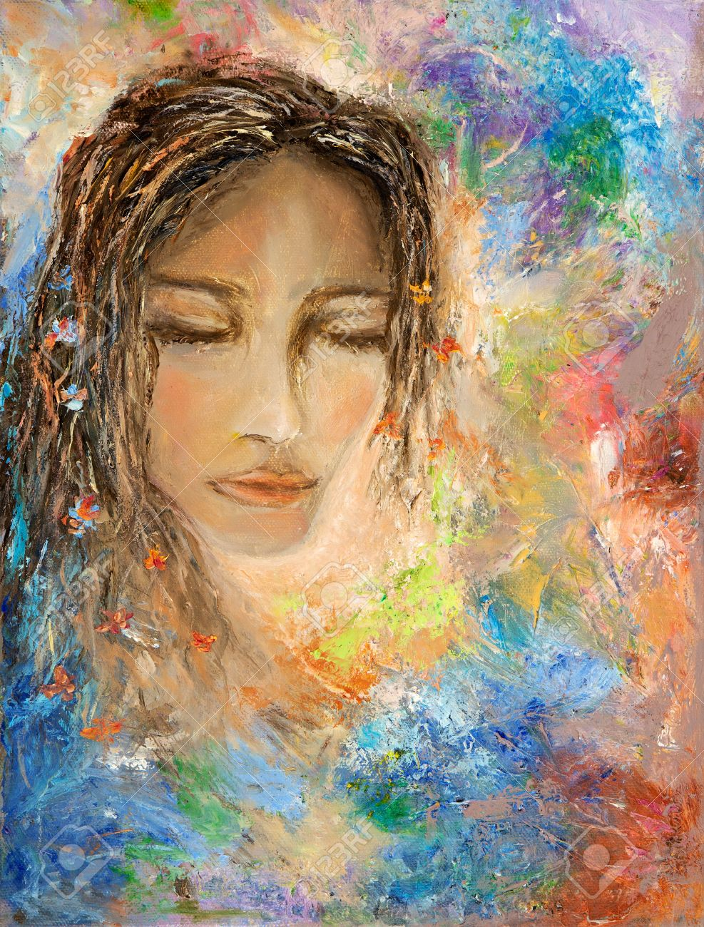Image result for abstract painting of a woman