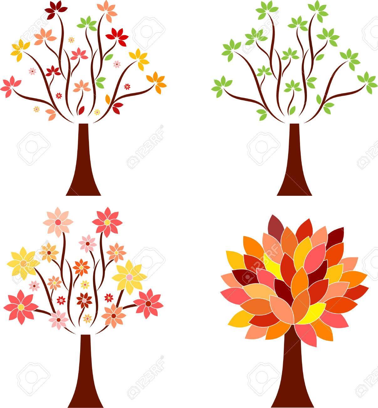 isolated seasonal tree vectors royalty free cliparts vectors and rh 123rf com tree vectors free three vectors are shown