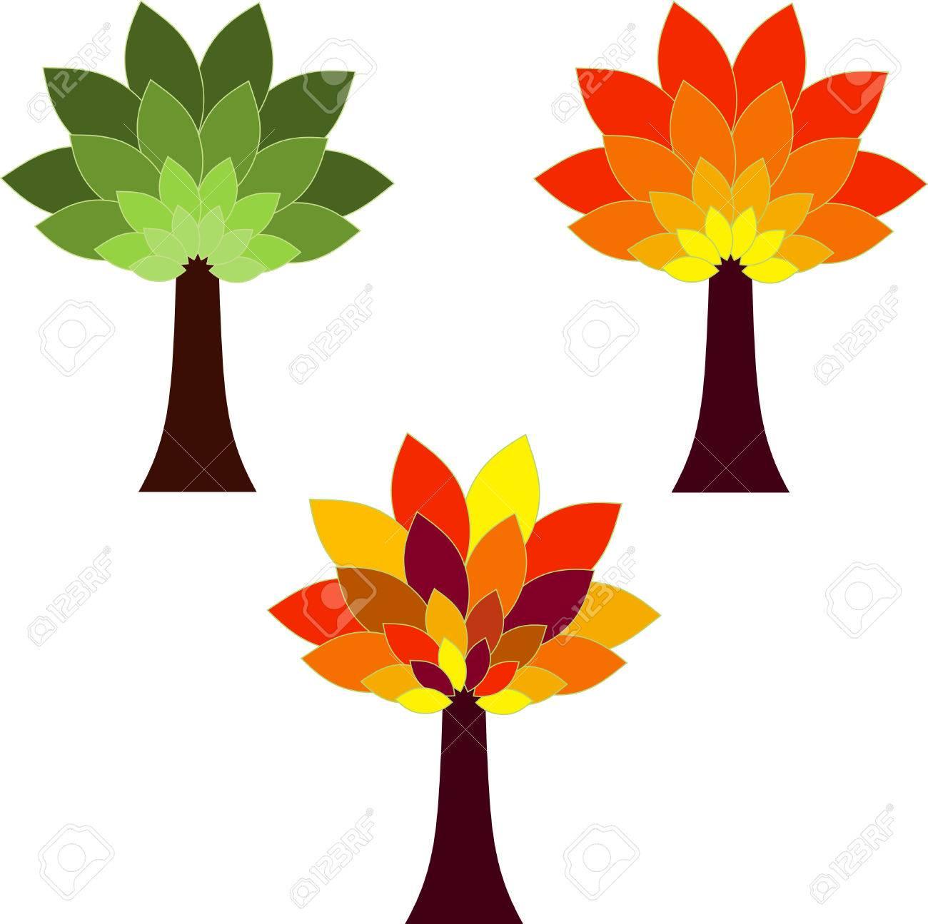 isolated tree vectors season tree illustrations royalty free rh 123rf com three vectors are shown tree vector image