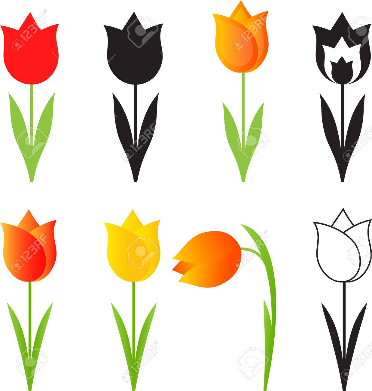 Isolated spring flowers vectors tulip vectors royalty free cliparts isolated spring flowers vectors tulip vectors stock vector 37426753 mightylinksfo