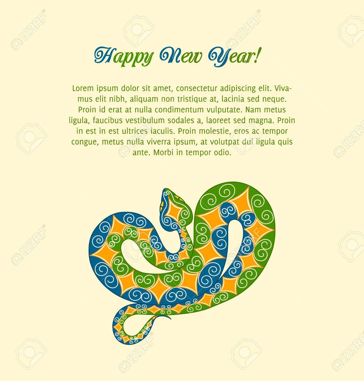 colorful snake. 2013 new year Stock Vector - 15362650