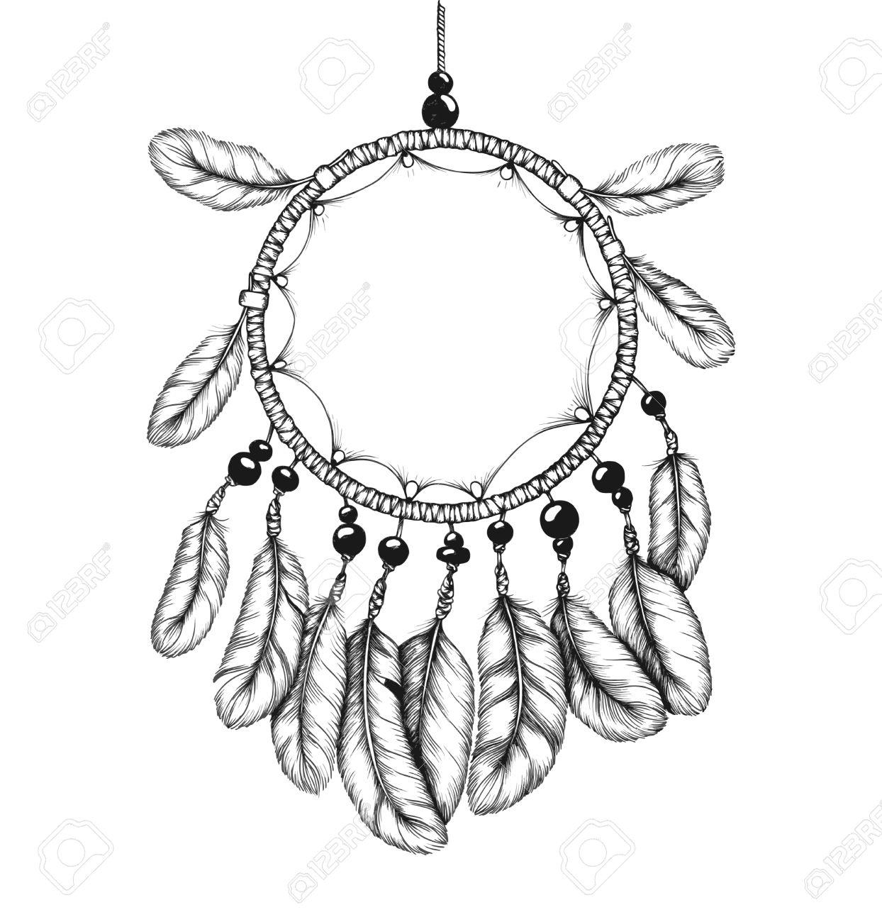 Tnico Atrapasueños Tribal Con Plumas. De Los Indios Americanos ...