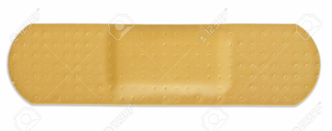 Adhesive plaster on the isolated white background Stock Photo - 8264842