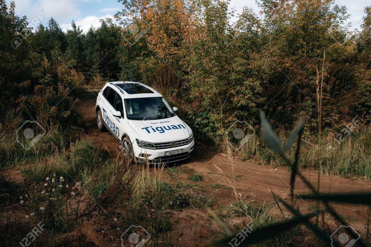 Cross Country 4x4 >> Minsk Belarus September 20 2019 Volkswagen Tiguan 4x4 Rides