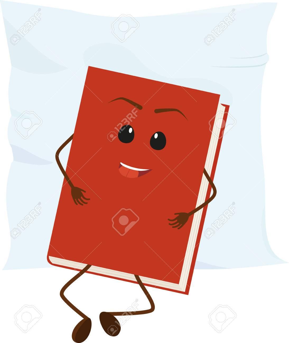 Dessin Anime Livre Rouge Repose Sur L Oreiller