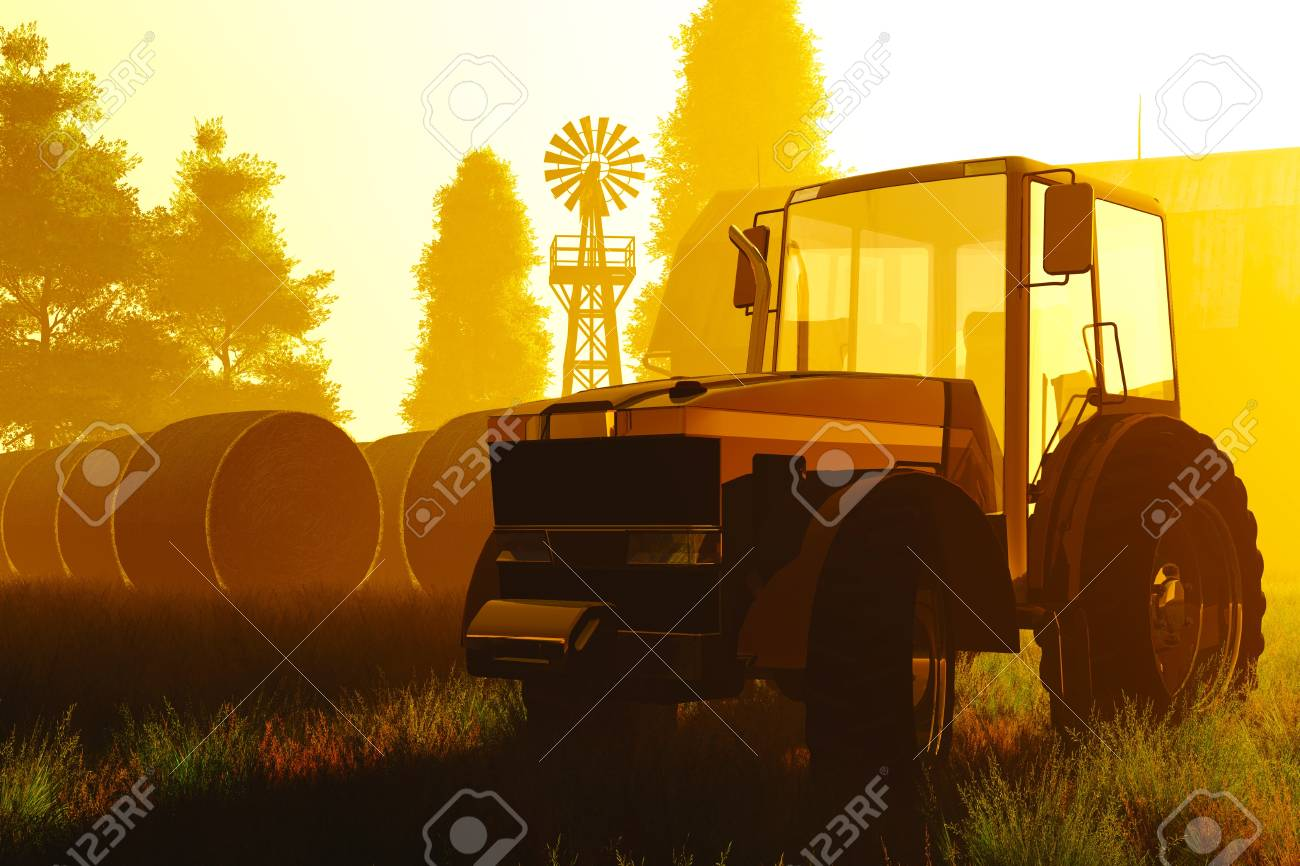 Agriculture Concept 3D render Stock Photo - 17168573