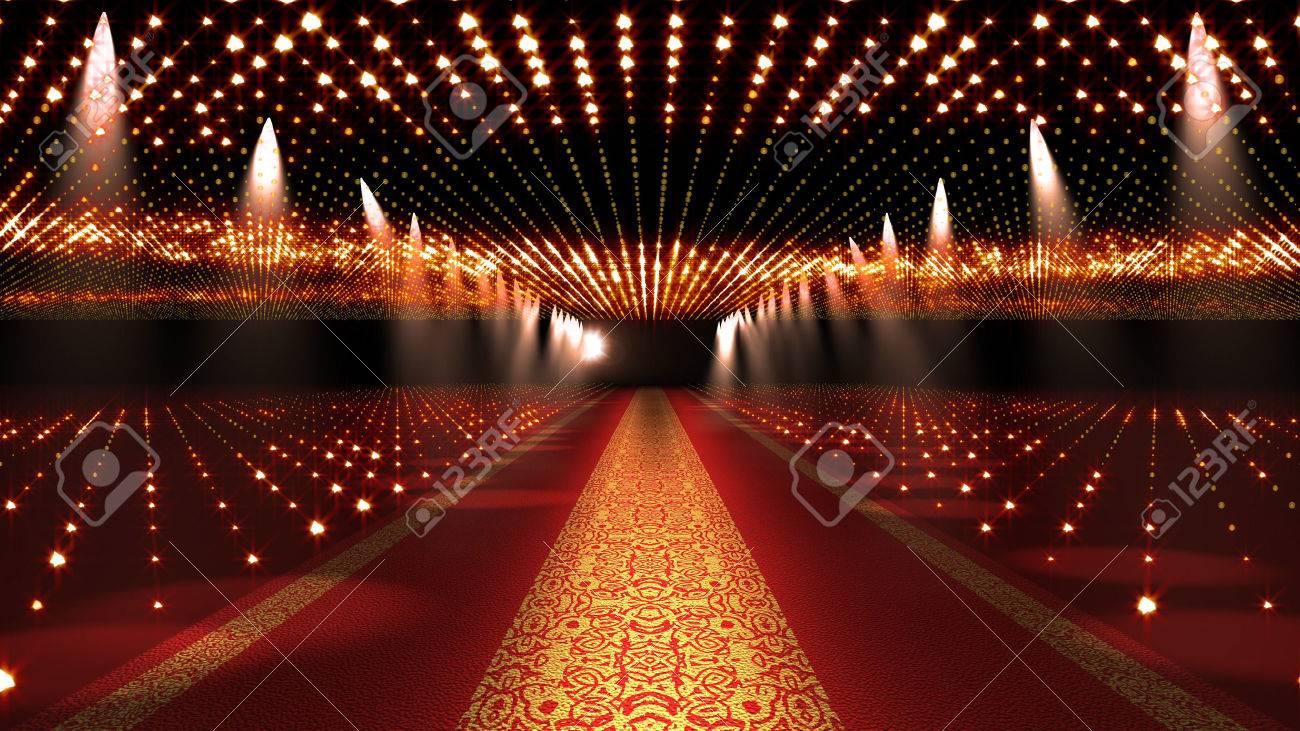 Red Carpet Festival Glamour Scene Illustration - 53544699