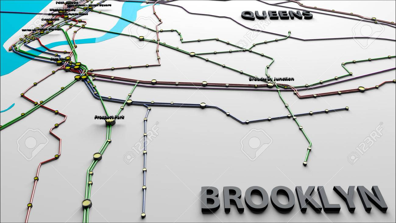 Subway Lines And Stations Of New York City Subways Brooklyn Queens - Nyc subway map queens ny