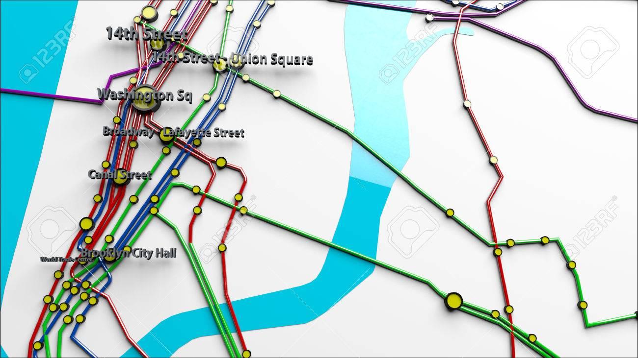 Nyc Subway Map Pics Stock.Stock Illustration