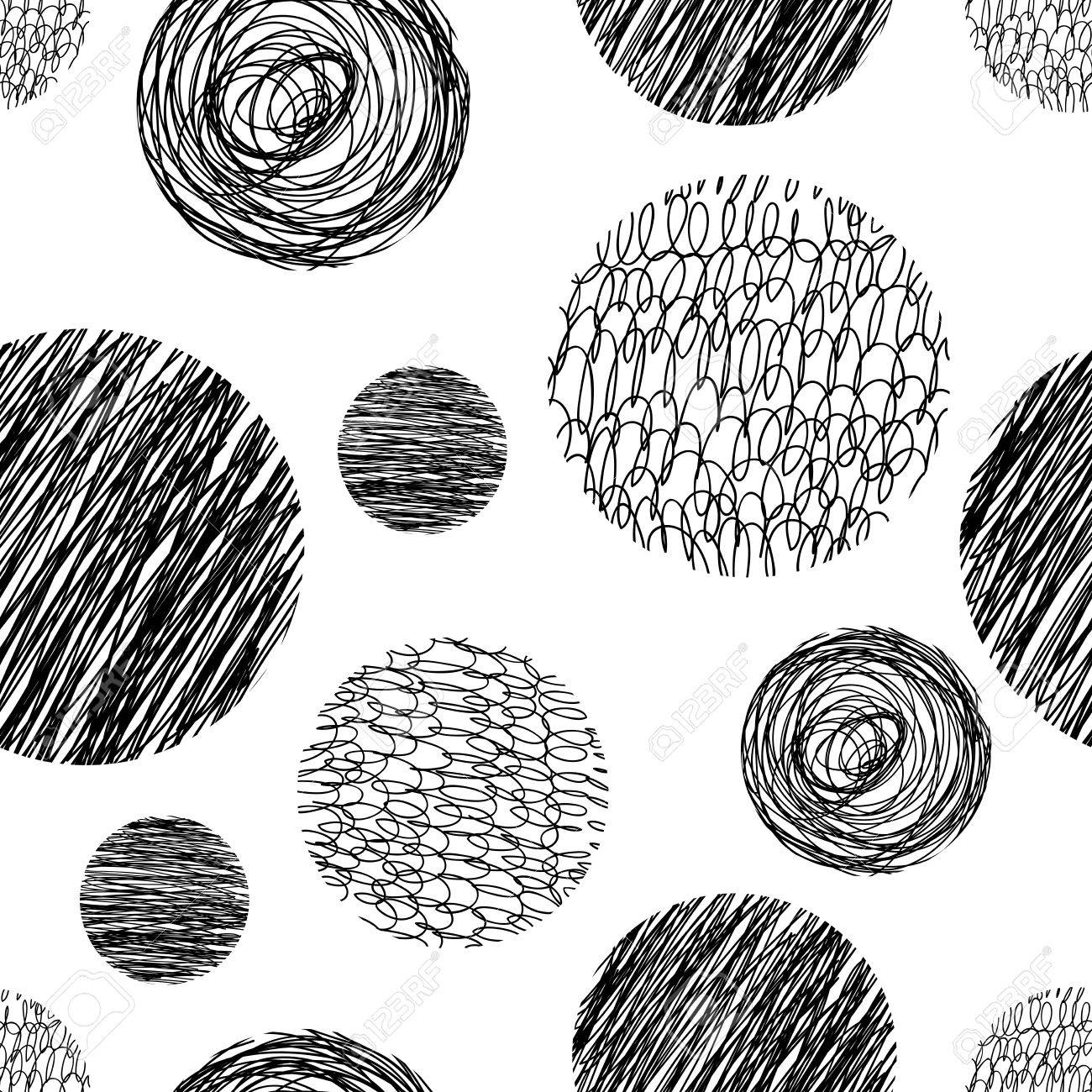 Vector abstract Hand drawn background for design and decoration textile, covers, package, wrapping paper. - 50368956