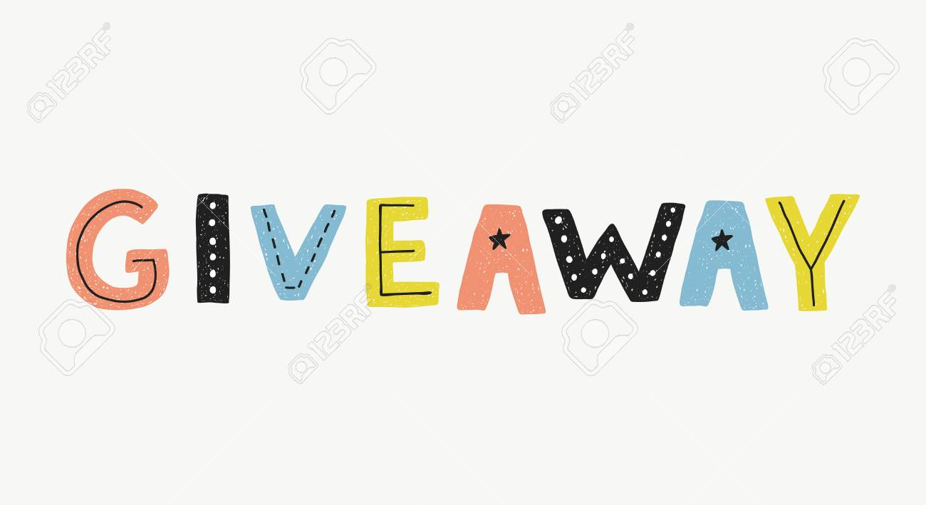 giveaway vector banner template royalty free cliparts vectors and