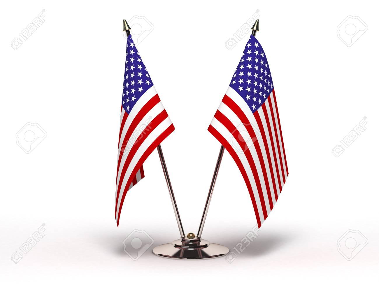 Miniature Flag of USA (Isolated) - 11980486