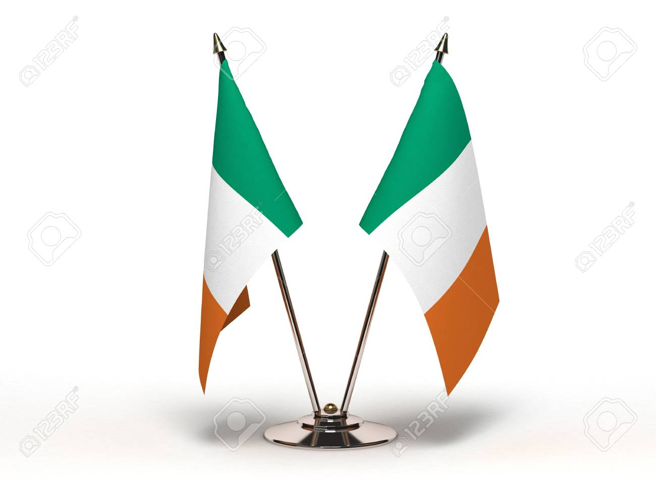 Miniature Flag of Ireland(Isolated with clipping path) - 12218235
